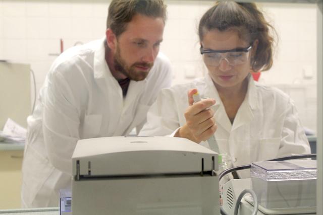 Jakub Krejcik in a lab