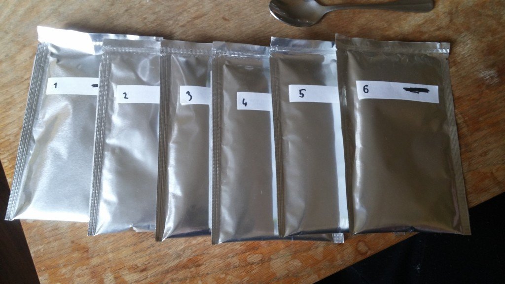 Numbered samples